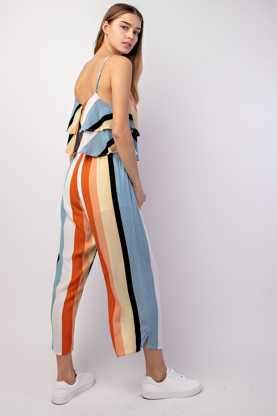 Laila Jumpsuit With Layered Striped Siin Bees