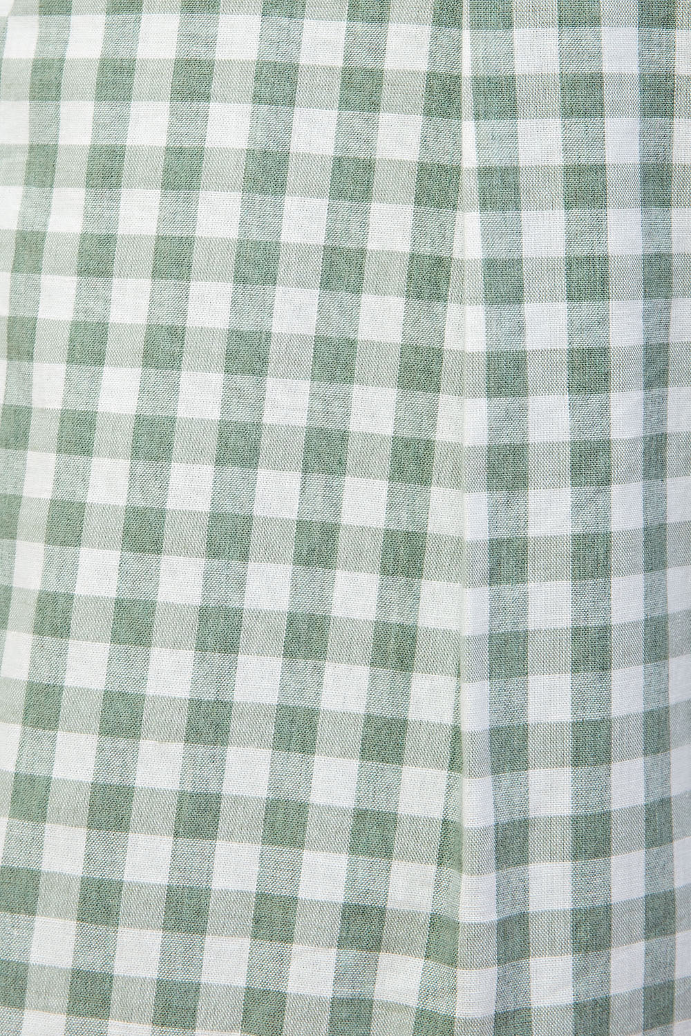 Gingham Paper-Bag Romper In Dusty Green Siin Bees