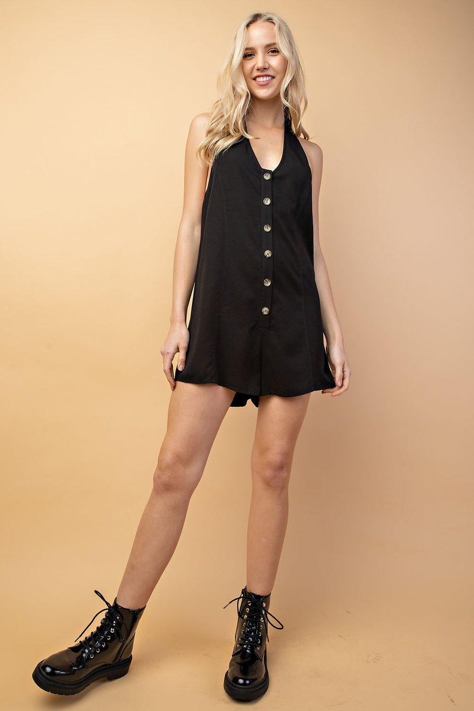 Mary Romper With Halter Tencel Siin Bees