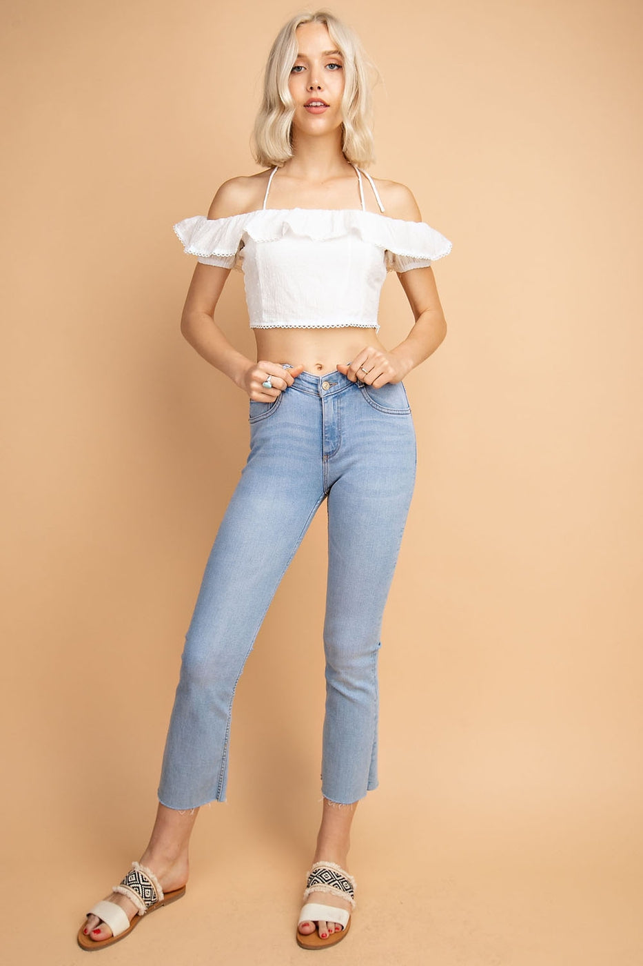 Angelic White Shoulder Sleeve Top - Siin Bees