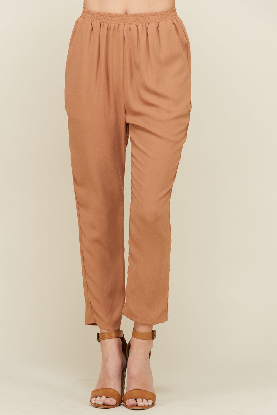 Camel Pant With Elastic Band Siin Bees