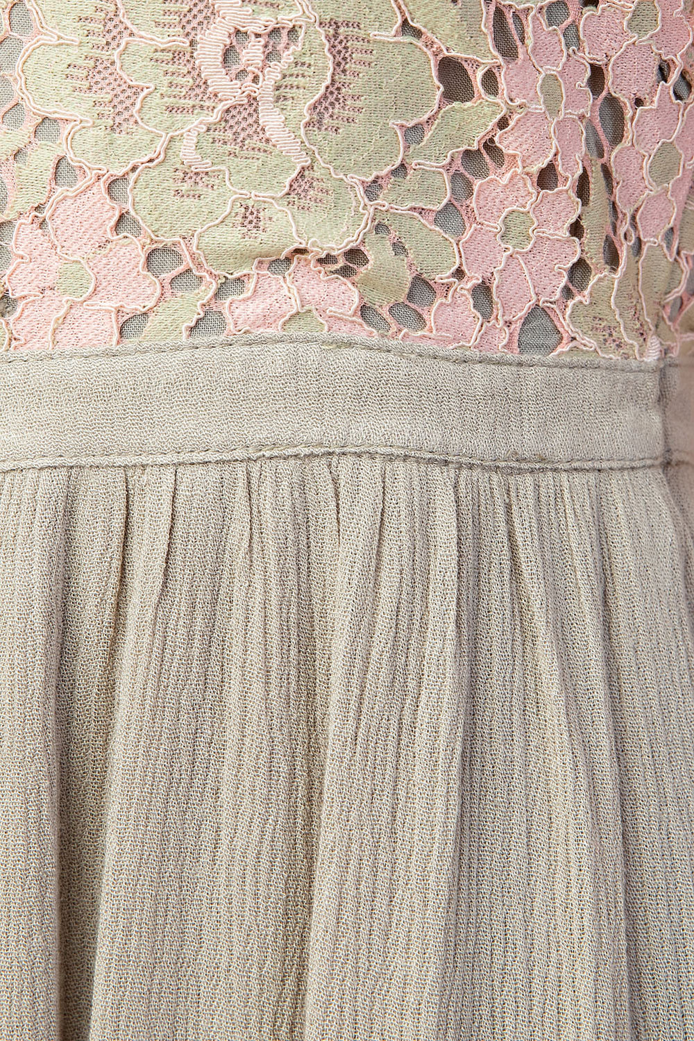 Contrast Lace Dress In Sage Siin Bees