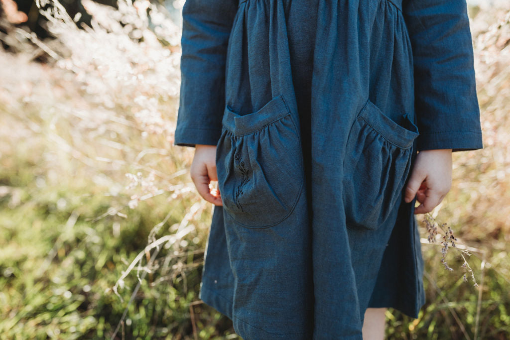 Sage Willow Linen Dress