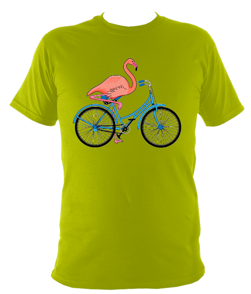 Kids Flamingo On A Bike T-shirt - Awesome Bike Gifts - Bike Essentials Accessories And T-shirts