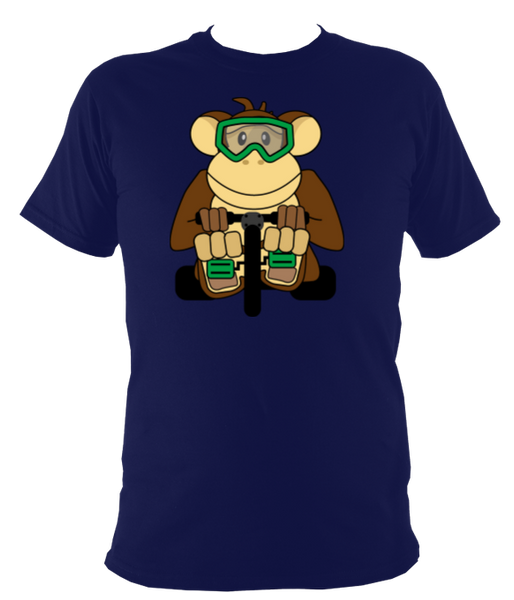 Kids Monkey Bike T-shirt - Awesome Bike Gifts - Bike Essentials Accessories And T-shirts