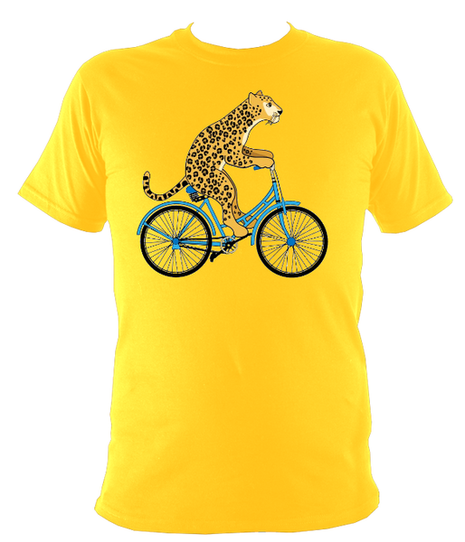Kids Cheetah On a Bike T-shirt - Awesome Bike Gifts - Bike Essentials Accessories And T-shirts