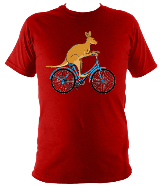 Kids Kangaroo On A Bike T-shirt - Awesome Bike Gifts - Bike Essentials Accessories And T-shirts