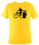 Unisex Bin The Car T-shirt Ethical Bicycle Top - Think Globally Bike Locally - Awesome Bike Gifts - Bike Essentials Accessories And T-shirts
