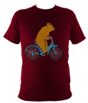 Kids Bear On A Bike T-shirt - Awesome Bike Gifts - Bike Essentials Accessories And T-shirts
