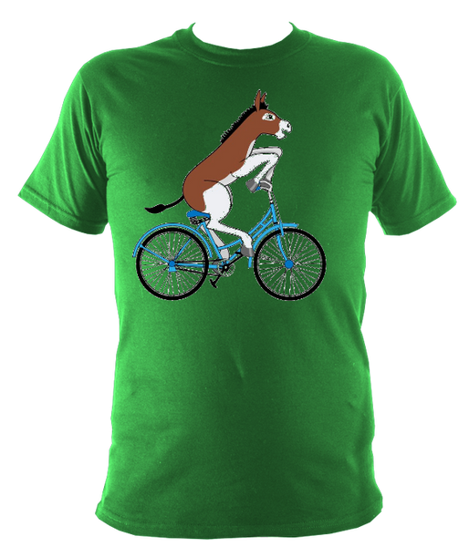 Kids Donkey on a Bike T-shirt - Awesome Bike Gifts - Bike Essentials Accessories And T-shirts