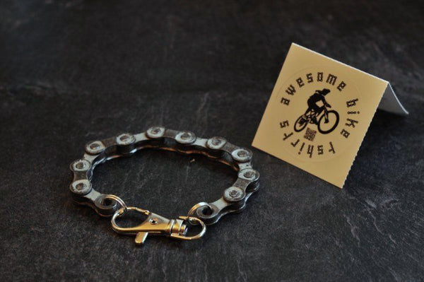 Recycled Bicycle Chain Bracelet Upcycled Punk Industrial - Awesome Bike Gifts - Bike Essentials Accessories And T-shirts