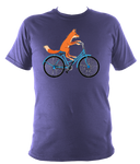 Kids Fox On A bike T-shirt - Awesome Bike Gifts - Bike Essentials Accessories And T-shirts