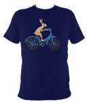Kids Bunny On A Bike T-shirt - Awesome Bike Gifts - Bike Essentials Accessories And T-shirts
