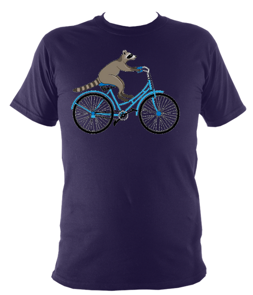 Kids Raccoon On A Bike T-shirt - Awesome Bike Gifts - Bike Essentials Accessories And T-shirts