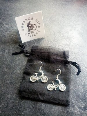 Classic Bicycle Earrings Lovely Gift for Cyclists or Rider Present Ear Beautiful Silver plated wires suitable for pierced ears alloy charm - Awesome Bike Gifts - Bike Essentials Accessories And T-shirts
