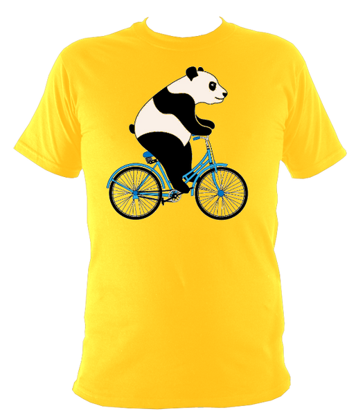 Kids Panda On A Bicycle T-shirt - Awesome Bike Gifts - Bike Essentials Accessories And T-shirts