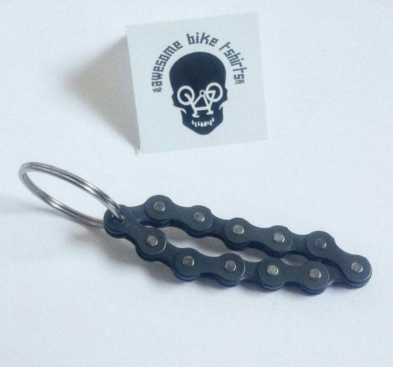 Bicycle chain Keychain, Great Accessory Practical Gift - Awesome Bike Gifts - Bike Essentials Accessories And T-shirts