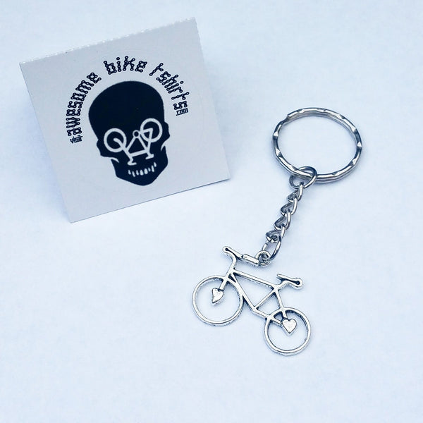 Love To Cycle Bicycle Keyring Key Fobs Gift for Cyclist Bike Rider Tour Cyclist Present for Mountain or Road retro Keys - Awesome Bike Gifts - Bike Essentials Accessories And T-shirts