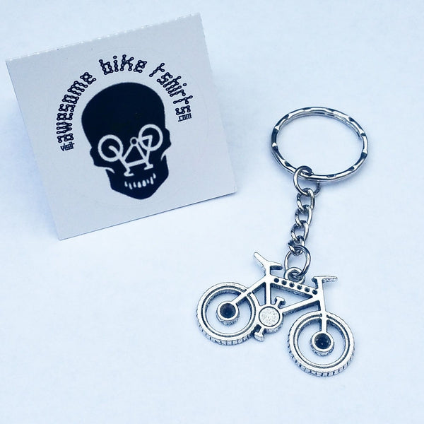 Mountain Bicycle Keyring Key Fobs Gift for Cyclist Bike Rider Tour Cyclist Present for Mountain or Road retro Keys - Awesome Bike Gifts - Bike Essentials Accessories And T-shirts