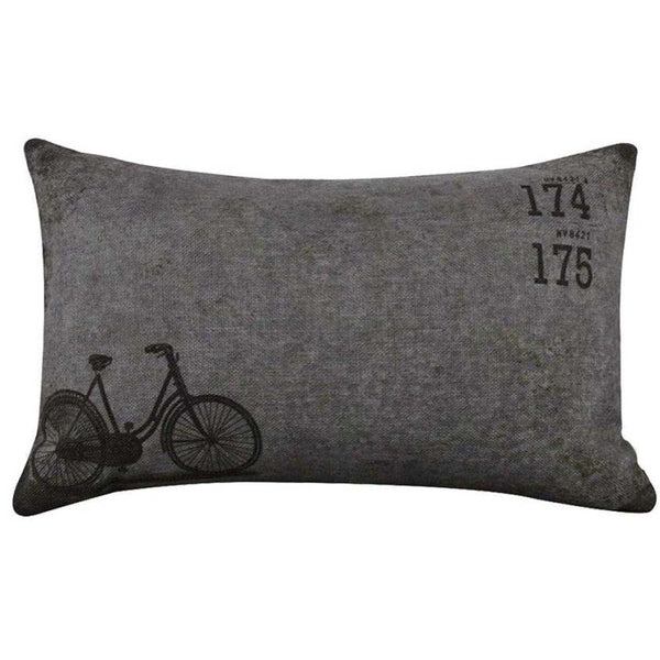 Bicycle Linen Square Throw Flax Pillow Case Decorative Cushion Pillow Cover - Awesome Bike Gifts - Bike Essentials Accessories And T-shirts