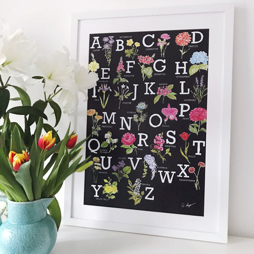 Floral ABC poster