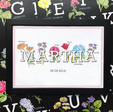 Floral Personalised Name Print