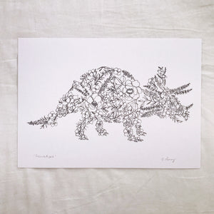 Floral Triceratops