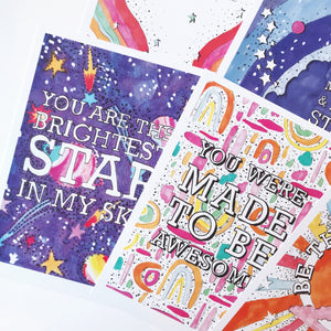 *NEW* 6 Positive Message Postcard Pack 2
