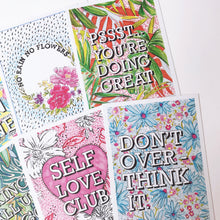 *NEW* 6 Positive Message Postcard Pack 1