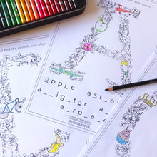 * NEW * Alphabet Colouring in Book and Educational Download