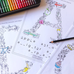 Alphabet Colouring in Book and Educational Download