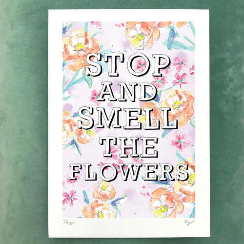 *NEW* Stop and Smell the Flowers (watercolour)