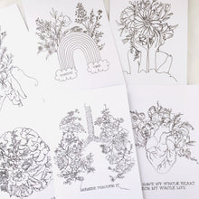 6 Line Drawing Postcards