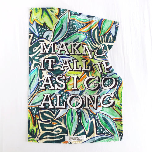 Making it All Up Tea Towel