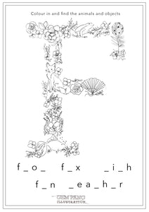 Download Letter F Worksheet