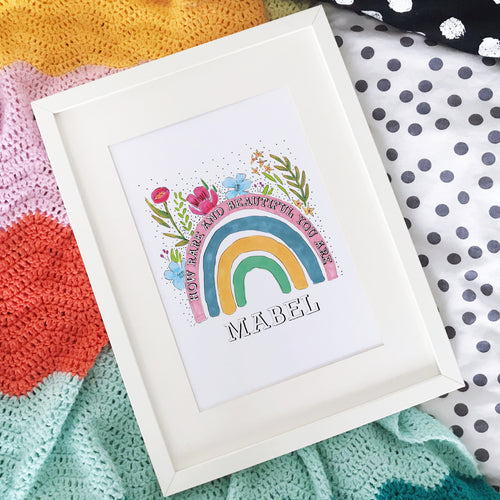 Personalised How Rare and Beautiful You Are Rainbow