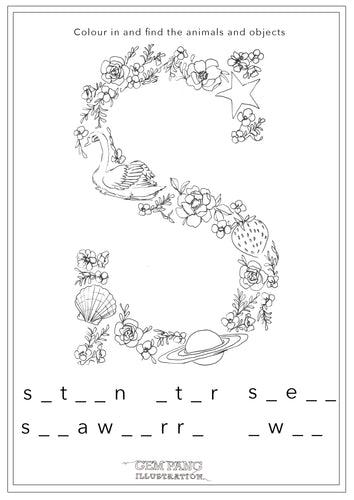 Download Letter S Worksheet