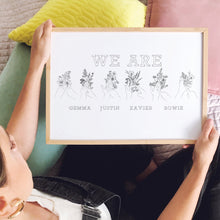 *NEW* Personalised We Are Family British Sign Language print