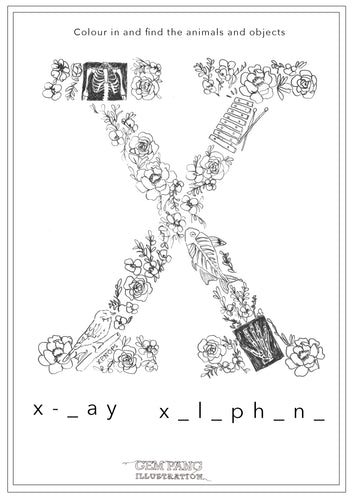 Download Letter X Worksheet