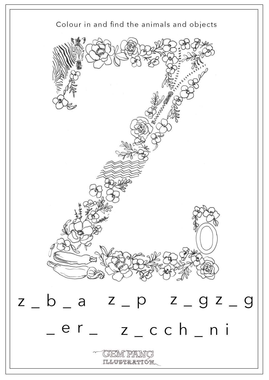 Download Letter z Worksheet