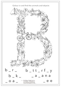 Download Letter B Worksheet