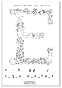 Download Letter E Worksheet