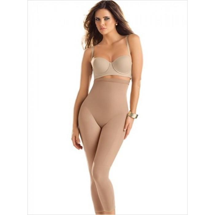 LEONISA 012727 INVISIBLE BODY SHAPER WITH LEG COMPRESSION