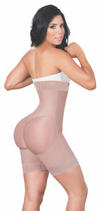 JACKIE LONDON 2035 STRAPLESS BODY SHAPER ZIPPER ON THE SIDE