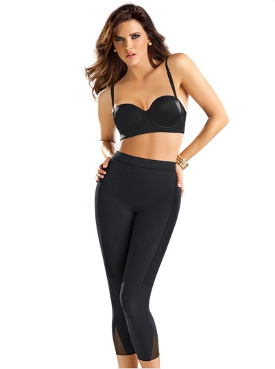 LEONISA 012779 INVISIBLE COMPRESSION HIGH WAISTED CAPRI