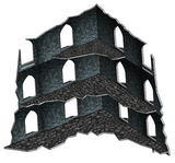 Three Storey Ruins (4 Pack)