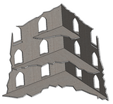 Three Storey Ruins (8 Pack)