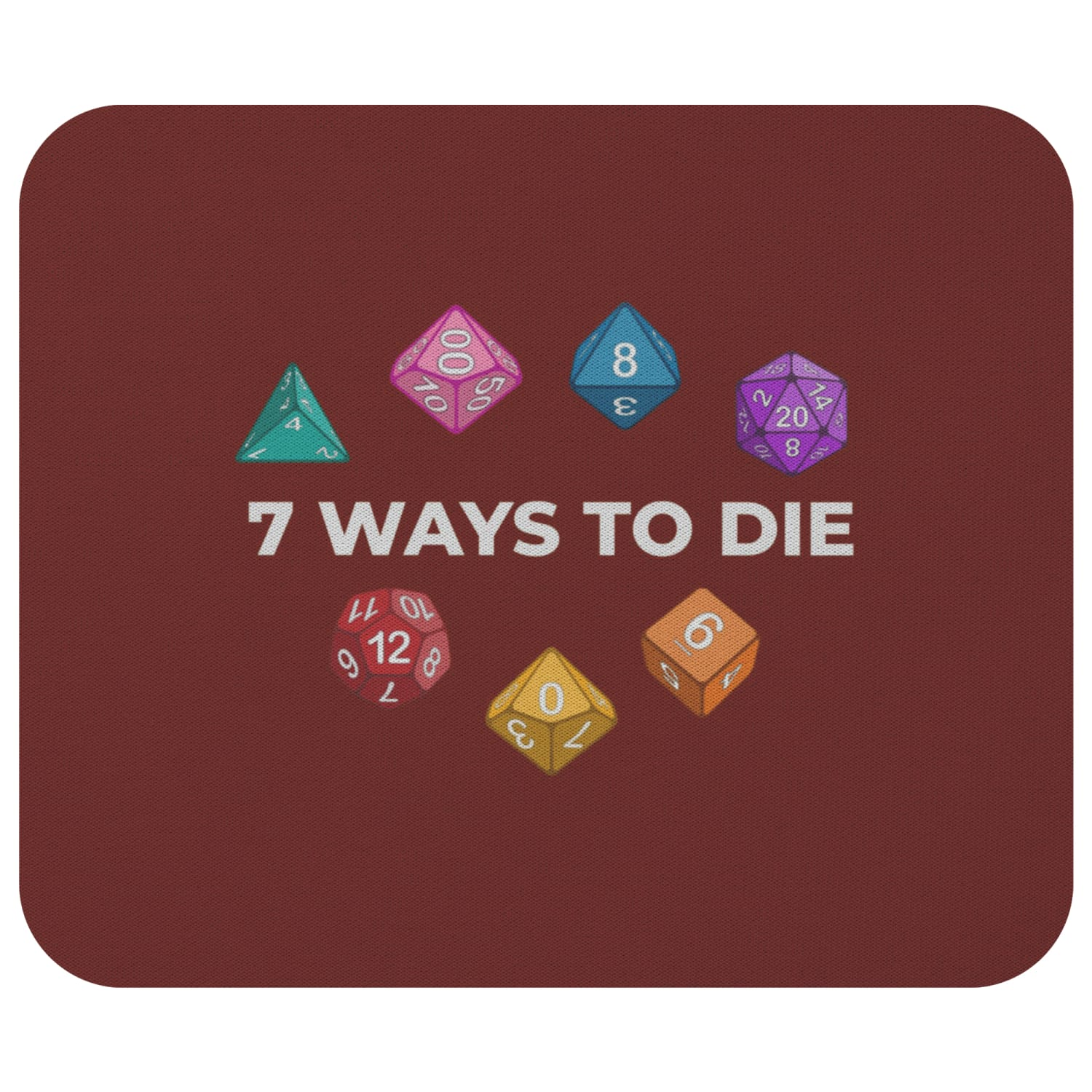 7 Ways To Die Mousepad - 7WRed - Mousepads