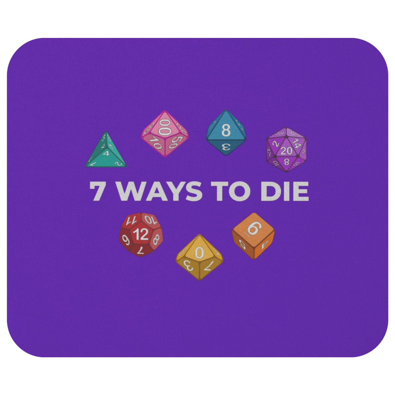 7 Ways To Die Mousepad - 7WPurple - Mousepads