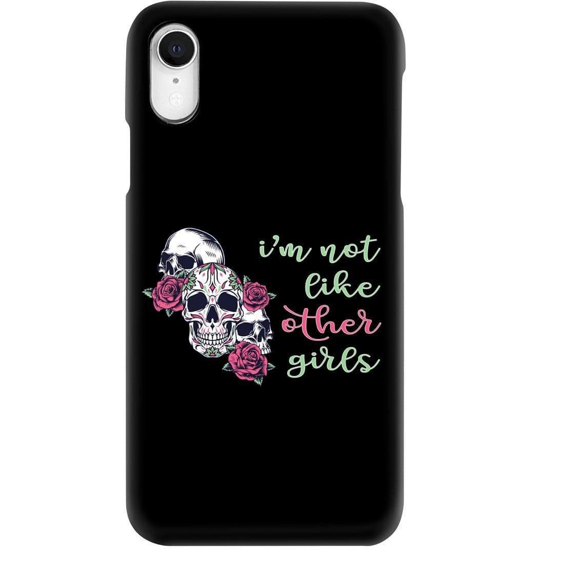 All Nerds Here I'm Not Like Other Girls Phone Case - Snap * iPhone * Samsung * - iPhone XR Case / Gloss / Apparel
